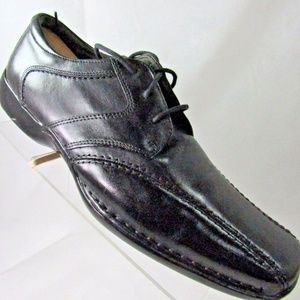 Clarks Size 11 M Black Leather Oxford Mens Shoes